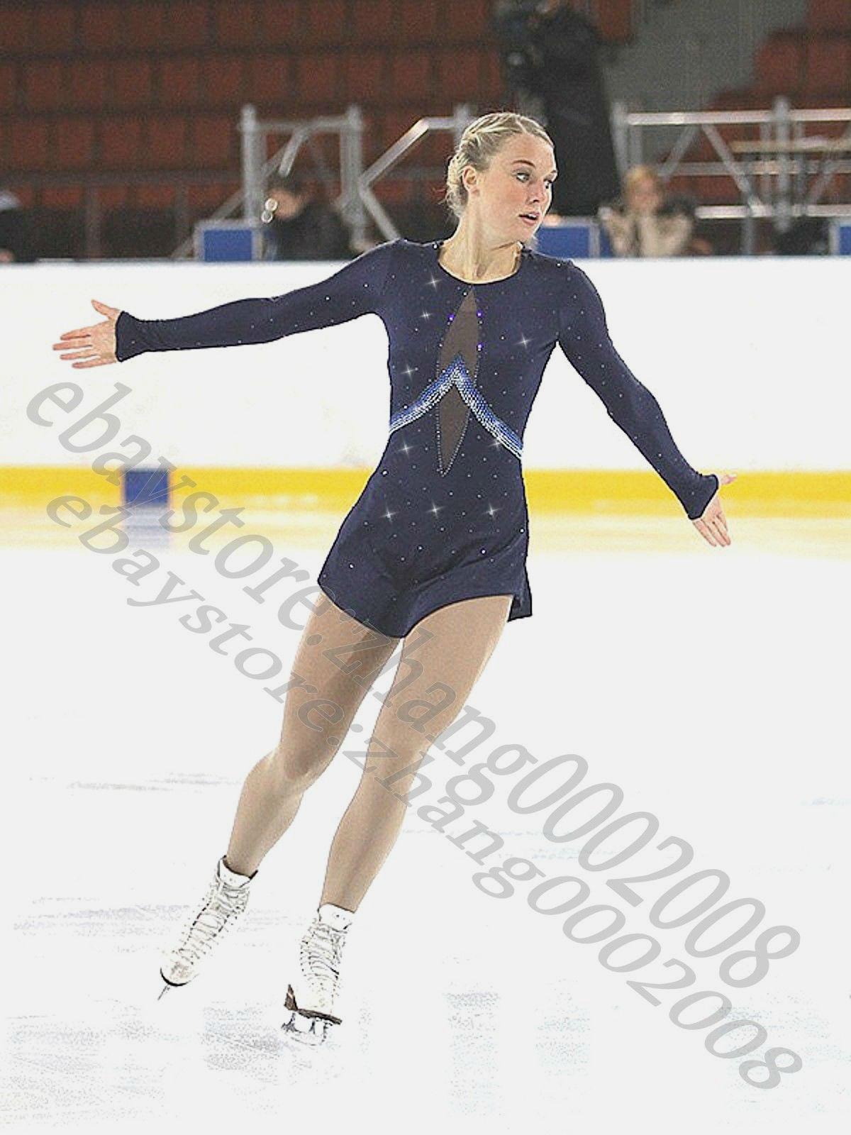 Concorrenza abito da pattinaggio.Abito da skating della Marina Blu.