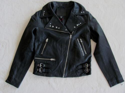 Jacket True Xs Size Zippers Embellished black 599 Moto 889347827781 Religion Leather Nwt x4q4SIfr