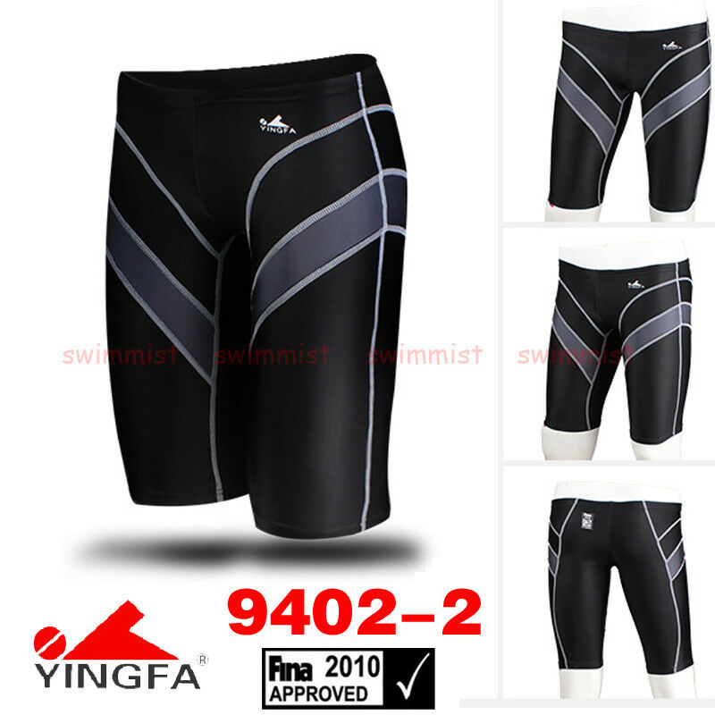 NWT YINGFA 9402-2 COMPETITION TRAINING JAMMER M BOYS 12-14 Sz28 [FINA APPROVED]