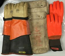 Set Of Two Pairs Of Safety Electrical Lineman Gloves Sizes 9 And 10