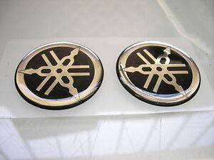 Details Zu 2x Yamaha Stimmgabel Logo Tuning Fork Emblem Epoxy Aufkleber Badge Sticker 60mm