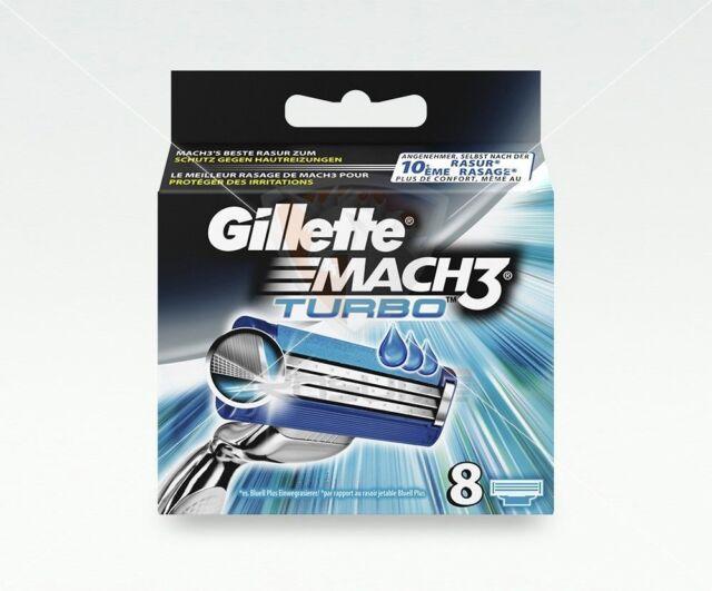 Gillette Mach3 Turbo Rasierklingen 8 Stück Blister-Pack