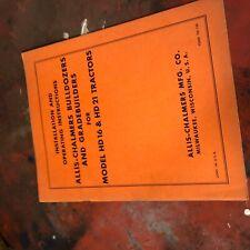 Allis Chalmers Allis Chalmers Dozer Model 16 21parts List Manual Book