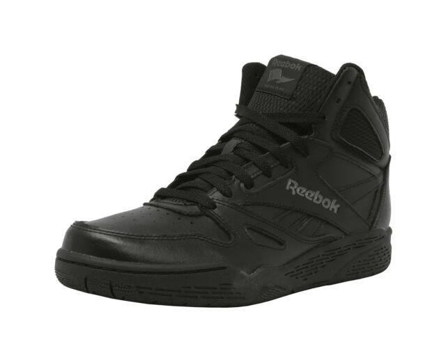 REEBOK Royal Flag BB4500 Hi Top Black Shark Leather Lace Up Sneakers Men  Shoes 566d8433b