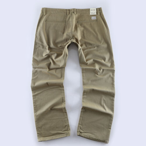 Neuf Grandes Tailles Big Seven Evan Vert Chino Jeans Homme Textile