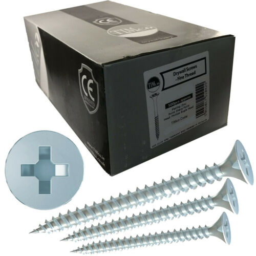 TIMco 4.2 x 75mm Fine Thread Dry Wall Wood Frame Screws Phillips Bugle Head