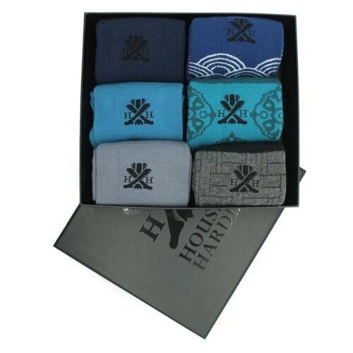 6X Pairs Men/'s quality Egyptian Cotton business socks Size 6-15 Boxset Sty6 Gift
