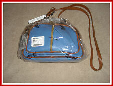 LAST ONE ! MSRP $129.95 VALENTINA MADE IN ITALY PEBBLED LEATHER CROSSBODY BAG