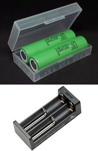 2x-SAMSUNG-li-ionio-Batteria-INR18650-25R-3-7V-2500mAh-20A-Xtar-MC2