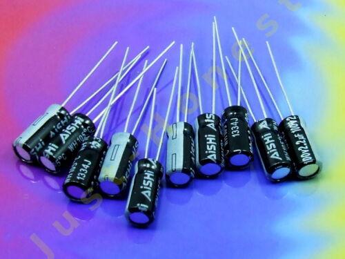 50V Elektrolytkondensator Electrolytic Capacitor 2.2 uF #A574 10 x 2,2uF Stk