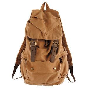 Retro-Vintage-Canvas-Backpack-Travel-Sport-Rucksack-Satchel-School-Hiking-Bag