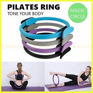Pilates Ring Exercise Resistance Yoga Gym Rings Fitness Magic Circle Foam Grip