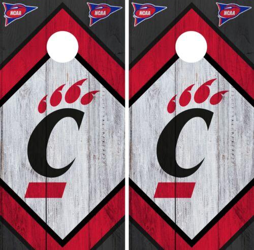 Cincinnati Bearcats Cornhole Wrap NCAA Board Skin Vinyl Decal Wood Set CO762