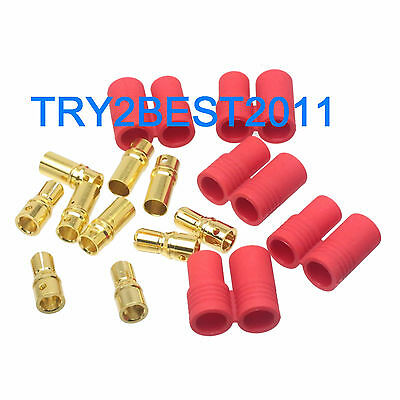 HXT 6MM Bullet Connector Plug /& Housing Sets Heavy Duty Turnigy 5