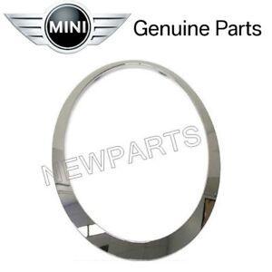 For-Mini-Cooper-2014-2016-Driver-Left-Chrome-Headlight-Trim-Ring-Genuine