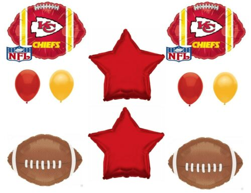 CHIEFS Football 10 PIECES Birthday Party Balloons Decoration Supplies by Party