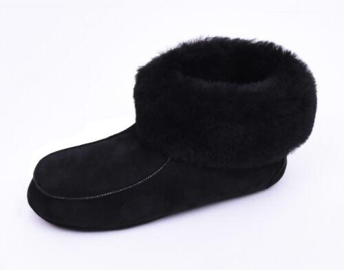 36 pelle agnello 47 nera Pantofola di Pantofole Pelliccia in Pantofole Mocassino Taglia bf76gy
