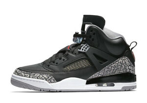quality design c9a84 1adcc Image is loading Nike-Air-Jordan-Spizike-BLACK-CEMENT-GREY-RED-