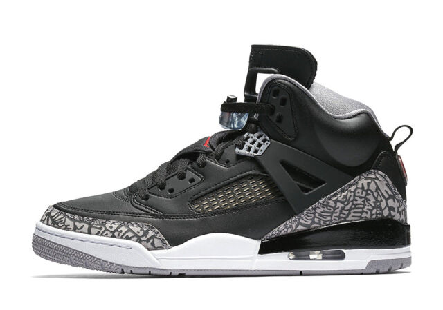 pretty nice 9ee68 88540 Nike Air Jordan Spizike BLACK CEMENT GREY RED OG 3 WHITE FIRE 315371-034 sz