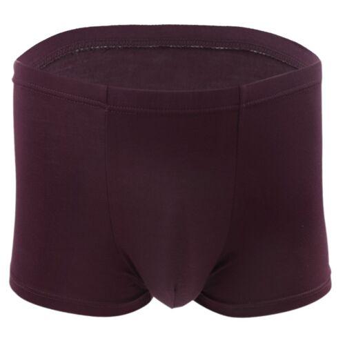 Men Boxer Briefs Lingerie Underwear Bamboo Fiber Bikini Shorts Thongs Swimwear