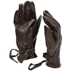 Original-Swedish-army-combat-leather-gloves-Genuine-brown-leather