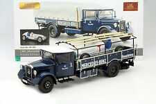 Mercedes-Benz LKW Renntransporter LO 2750 Set mit Mercedes W25 T-Car 1:18 CMC