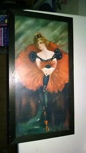 1905-SIGNED-PRINT-B-TYSON-OF-A-BALLERINA-FROM-CHICAGO-USA-ESTATE-FRAMED