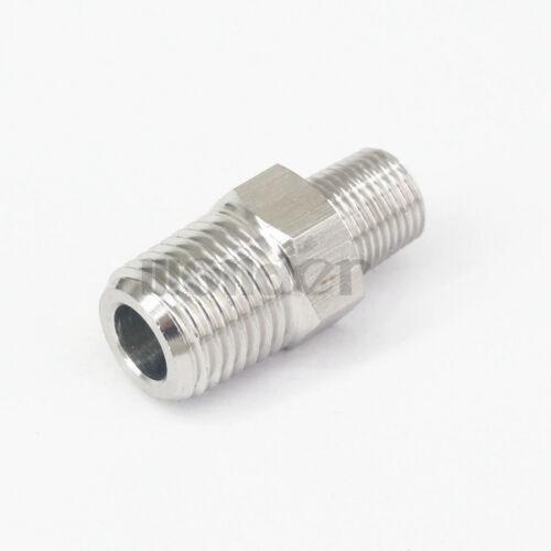 """1//8/"""" BSPT MacHo a MacHo 1//4/"""" BSPT 304 conectores accesorios de tubo de acero inoxidable"""