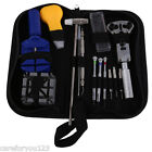 13x Watch Repair Tool Kit Case Opener Link Remover Spring Bar Tool w/ Carry Case