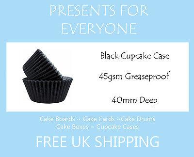 100 x Black Cupcake / Muffin Cake Cases