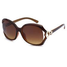 8a38ed996b0 Vintage Womens Square Gold Skull Eyewear Sunglasses UV Protect Brown Frame  VG03