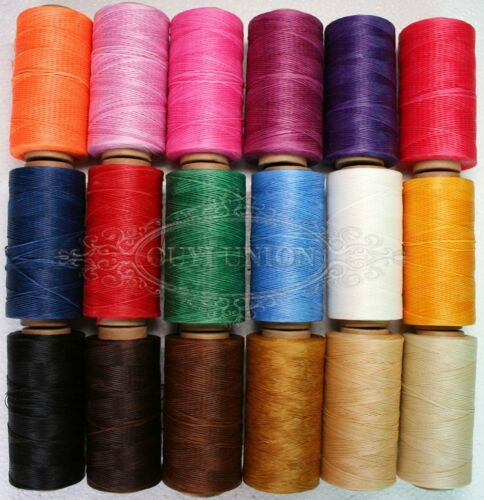 Colorful 240 Yard Flat Heavy Duty Waxed Thread Leather Tents Craft Hand Sewing
