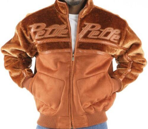 Mens Pelle Pelle Reverse Fur Faux Shearling Jacket Coat Rust Marc Buchanan