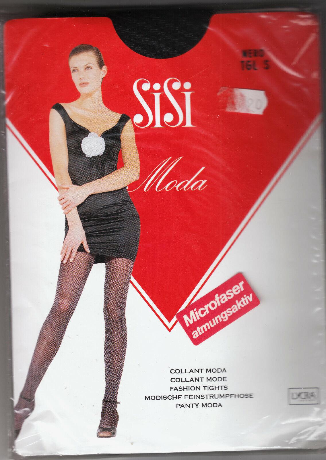 Microfaser-Strumpfhose von Sisi Moda Italia schwarz, Gr. S mit Muster