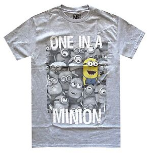 Despicable-Me-One-In-A-Minion-Grey-Heather-Men-039-s-T-Shirt-New