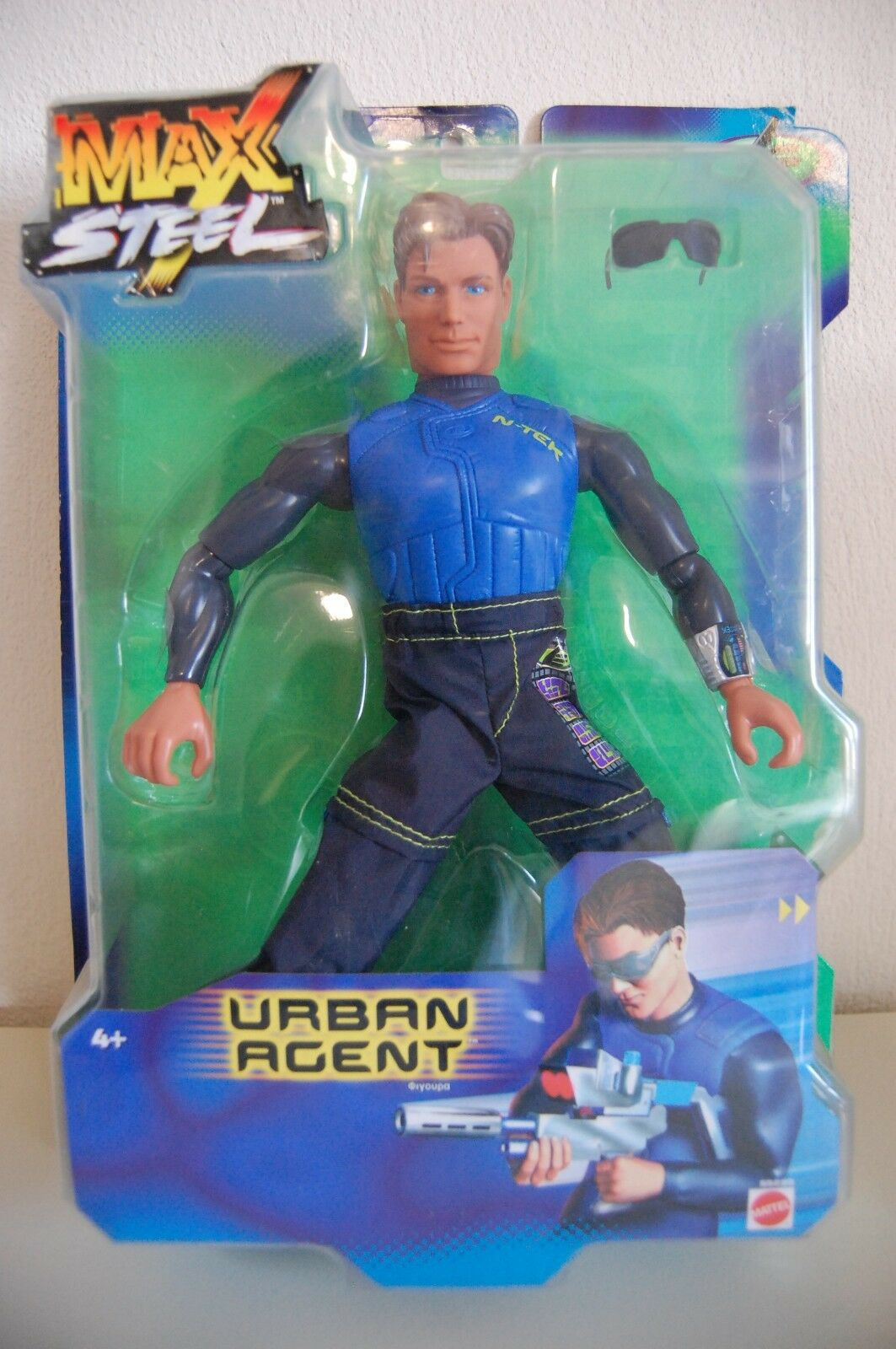 MAX STEEL FIGURE URBAN AGENT - 55295 MATTEL 2001 - NEW IN BOX