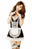 Sexy Naughty French Maid Ladies Party Fancy Dress  Outfit Costume