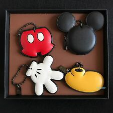 NWT Disney X Coach Mickey Mouse Hang tag Key chain Ring Deconstructed Set 66520