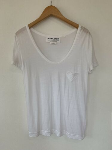MUVEIL WORK Women's Tops Shirts White Heart Free S