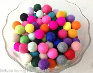20pcs Multicolor Round Felt Ball 4cm Great DIY Accessories for Craft Projects