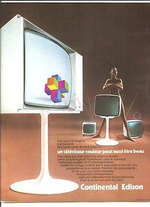 Continental Edison Tv Couleur Advertising Publicité AD Vintage