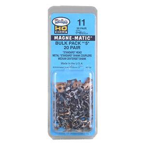 Kadee-11-Bulk-Pack-20-Paire-5-metal-coupleurs-l-039-echelle-HO