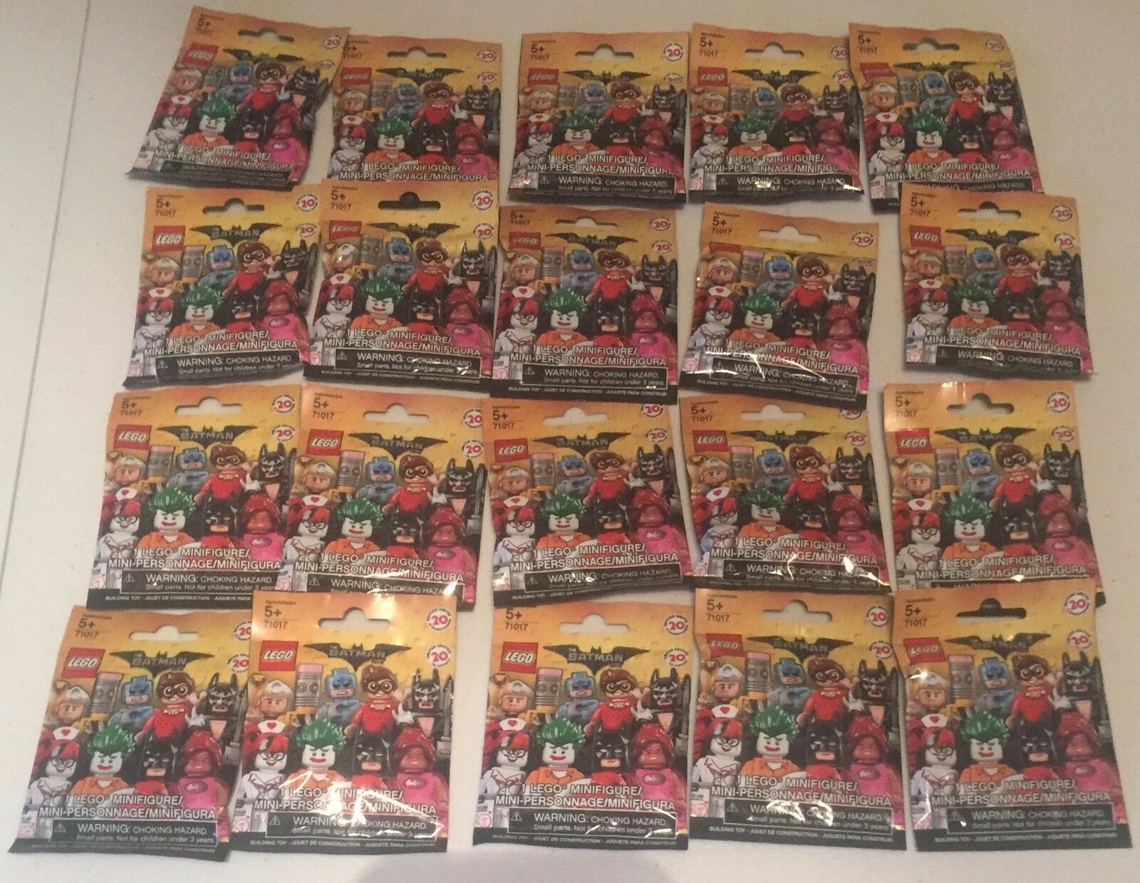 LEGO The Batman Movie Collectable Minifigures 71017 Complete Set Unopened