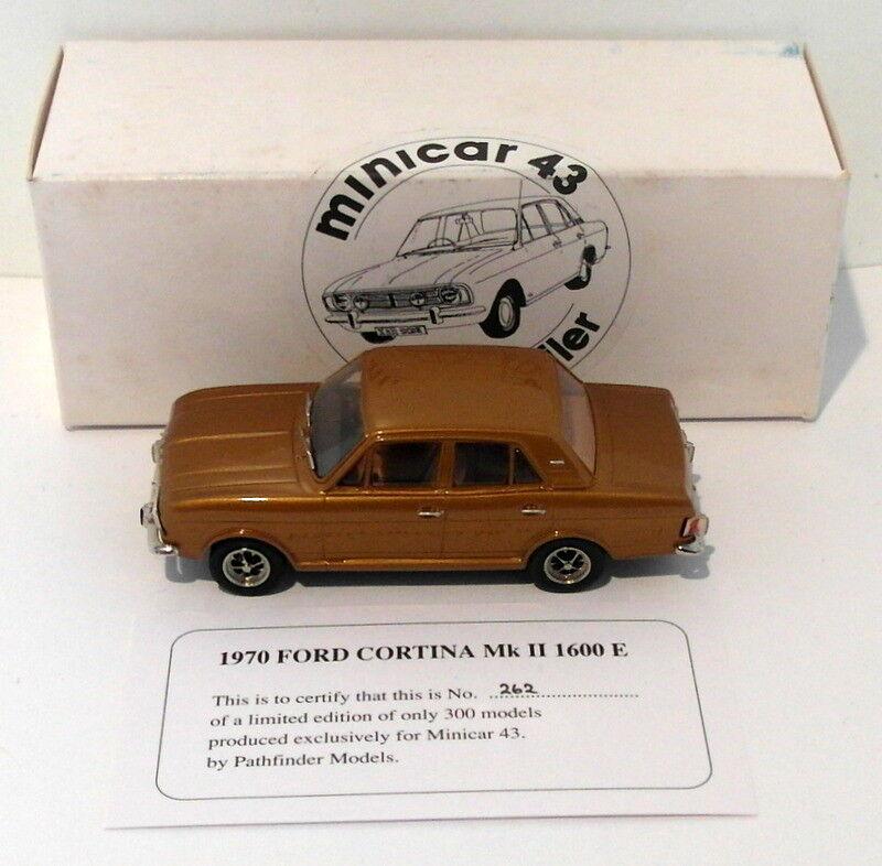Pathfinder Minicar 43 1 43 Scale MIN3 - 1970 Ford Cortina Mk II 1 Of 300 oro
