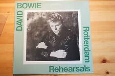 "Rare David Bowie Rotterdam Rehearsals LP 12"" 1987 10 Tracks Vinyl VG Sleeve EX"