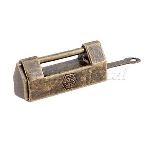 Key Vintage Antique Iron Chinese Old Lock Retro Brass Padlock Jewelry Wooden Box Padlock Lock For Suitcase D Aggressive New Rawer Cabinet Hasps & Locks