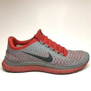 Nike Free Run 3 0 V4 Trainer Running Athletic Shoes Red Gray Men Size 9 5 Us Ebay