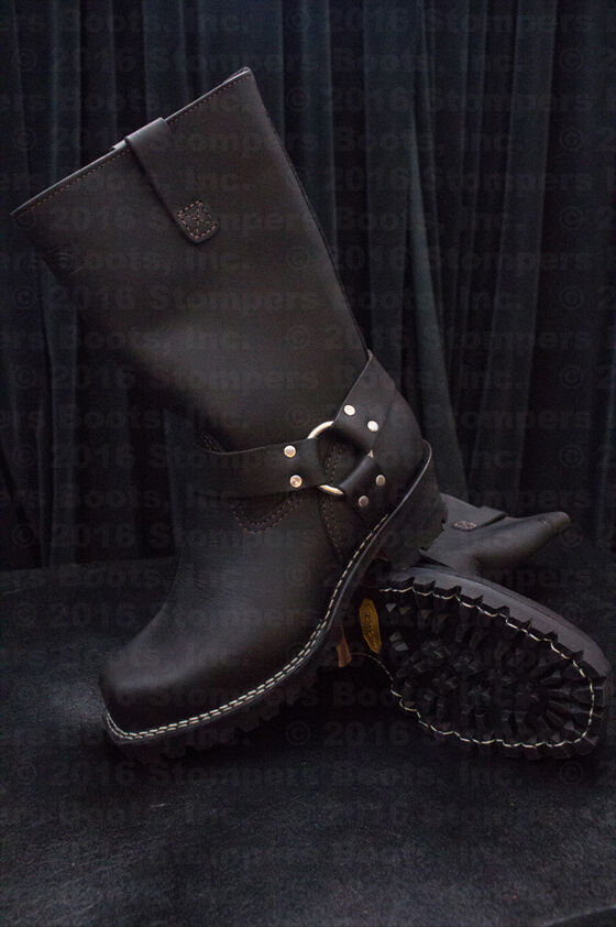 Wesco Harness 11  Black Leather Boots