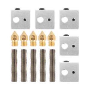 HSAN 20 Pcs 3D Printer Nozzle,0.4mm MK8 Extruder Nozzle Brass Extruder Nozzle Print Head for 3D Printer