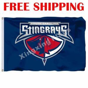 South-Carolina-Sting-Rays-Logo-Flag-ECHL-Hockey-League-2018-Banner-3X5-ft
